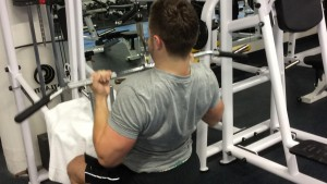 Sam working out