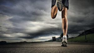 Man running marathon