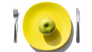 Apple on a plate