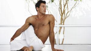 Man doing pilates