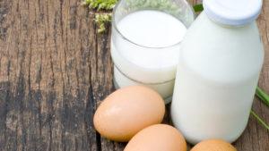 Eggs, milk