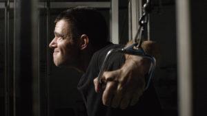 Man doing high intensity training