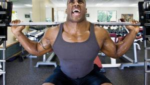 Man doing squats