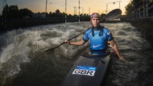 Joe Clarke canoeing