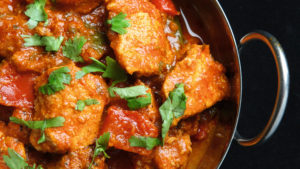 What not to eat before working out - chicken curry