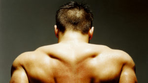 Man with muscular back - Back workout