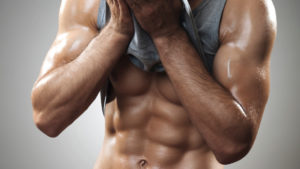 Man with ripped six-pack