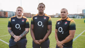 Maro Itoje, Jonathan Jones, Harry James