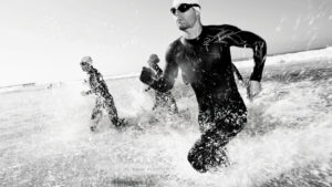Triathlon black and white