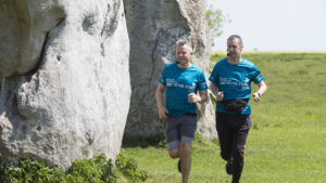 Paul Tonkinson and Rob Deering running