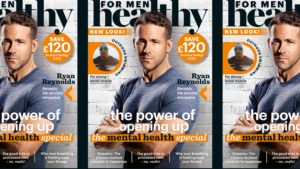 Healthy For Men Magazine with Ryan Reynolds on cover