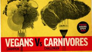 Vegans Vs Carnivores infographic